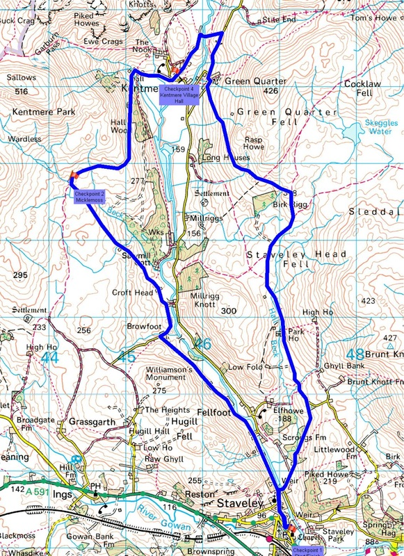 The Kentmere Canter Map